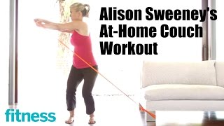 Alison Sweeney's At-Home Couch Workout | Fitness
