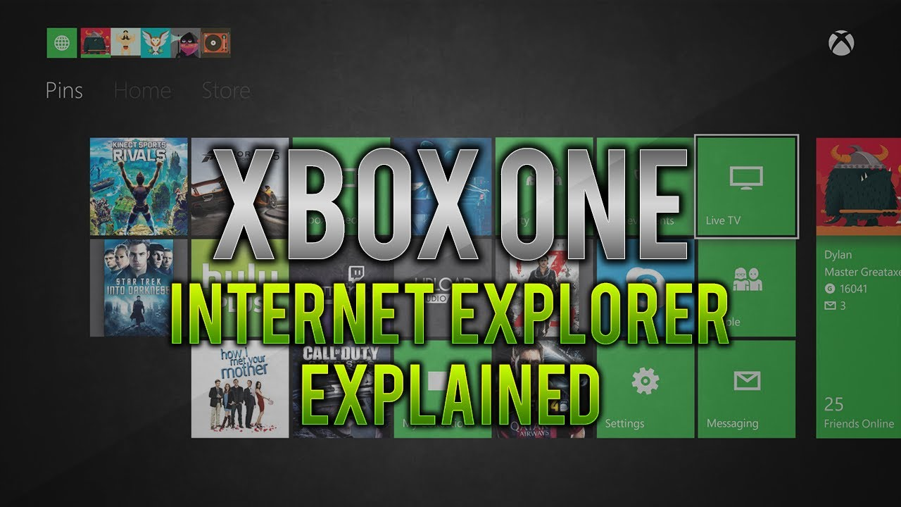 how to open internet explorer on xbox one