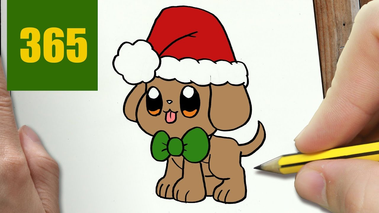 Comment dessiner chiot de no l kawaii tape par tape dessins kawaii facile youtube - Dessin de noel facile a dessiner ...