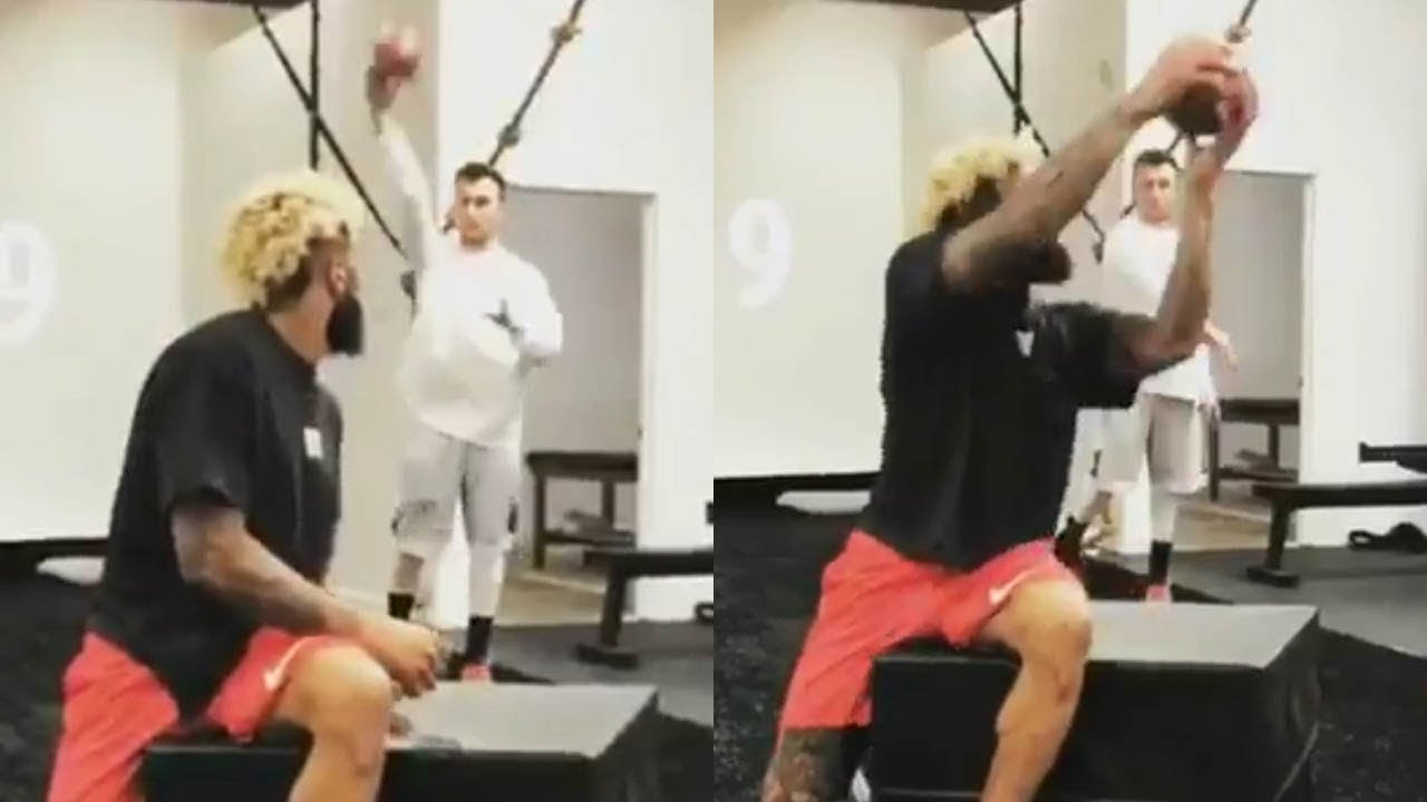 Odell Beckham Jr   Johnny Manziel Help Each Other with Their Comebacks f094ea386