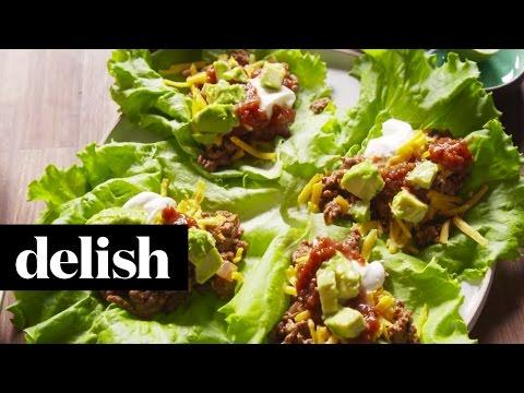 How To Make Taco Lettuce Wraps   Delish