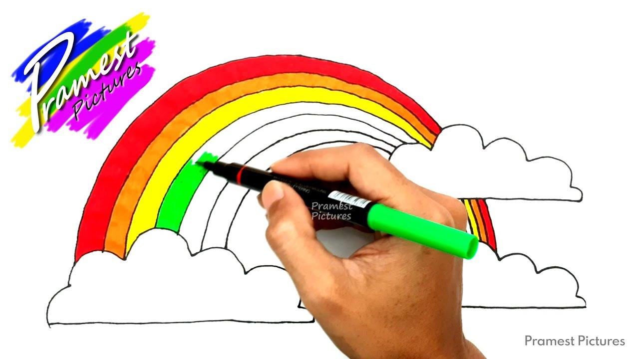 Pelangi 3 Cara Menggambar Dan Mewarnai Gambar Untuk Anak Youtube