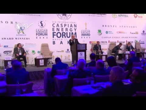 Academician Khoshbakht Yusifzade - Caspian Energy Forum - Baku 2015-eng