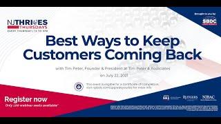 NJTT #012: Best Ways to Keep Customers Coming Back