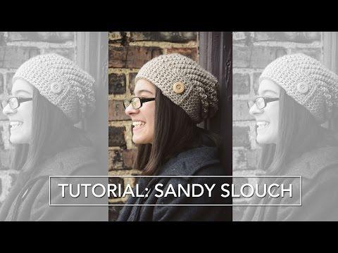 45e2d8b2c76148 How to Crochet a Slouchy Hat - Sideways Shell Slouch Hat Pattern ...