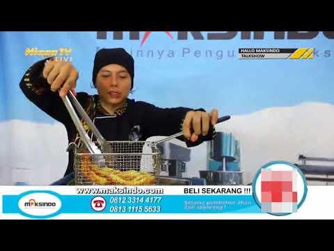 Mesin Sosis Telur Gas 2in1 Terbaru Plus Fryer ERG007 Maksindo