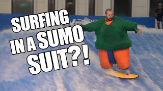 Can You Surf In A Sumo Suit?!