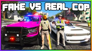 GTA 5 Roleplay - FAKE COPS STEAL CARS | RedlineRP