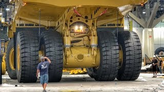 Moving a massive Caterpillar 794AC dump truck