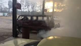 mopar 1969 A100 dodge van 440 burn out