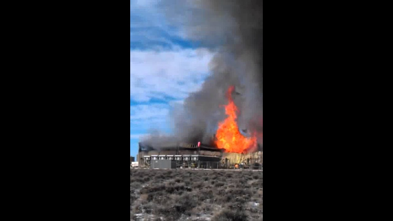 Wyoming natural gas pressor station explodes  YouTube