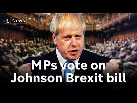 Brexit debate: MPs back Boris Johnson's Brexit bill