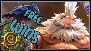 This deck just throws freewins at you! Beast Hunter Rise of Shadows Hearthstone