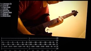 Bullet For My Valentine - Deliver Us From Evil (Guitar Cover w/ Tabs)
