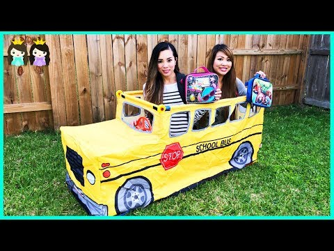 Wheels on the Bus School Songs for Kids   Pretend Play with Princess ToysReview