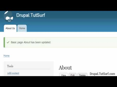 How To Add A Page And Link To A Menu Drupal 8 Tutorial Beginner