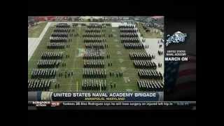 Navy-army march on pregame show