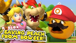 Saving Peach from Bowser Obby!!!