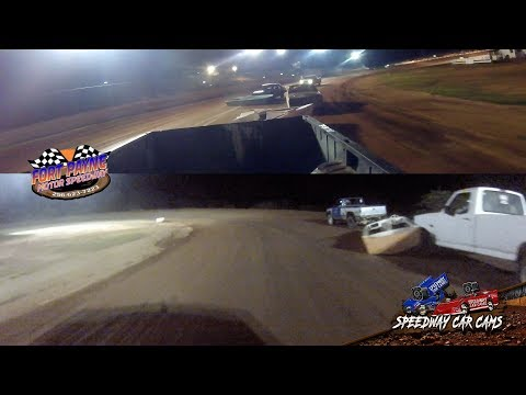 #14 Jerry Loudermilk - Waterless Boat Race - 8-11-18 Fort Payne Motor Speedway - In Car Camera