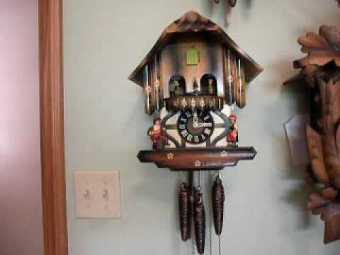 Musical Chalet with Spinning Dancer 1 Day Cuckoo Clock