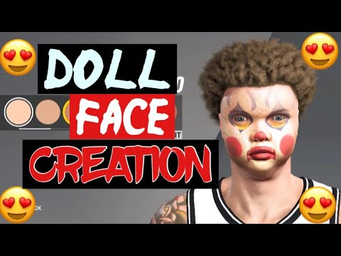 HOW TO DO THE DOLL FACE SCAN IN NBA2K20 BEST MASK FOR FACE CREATIONS !!!!!