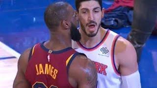 LeBron James ve Enes Kanter arasındaki sıcak anlar