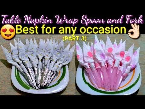 PAPER NAPKIN FOLDING SILVERWARE Tutorial (part 3) BEST FOR ANY OCCASION