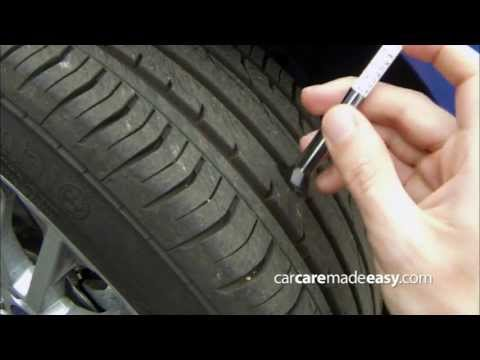 How to check tyre tread depth