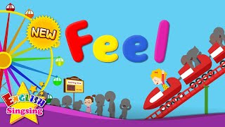Kids vocabulary - Feel 2 - feelings - Are you happy? - English educational video