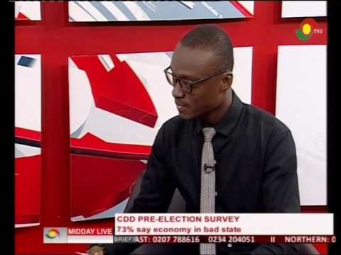 CDD Ghana pre election survey, 73% says economy in bad state - 9/8/2016