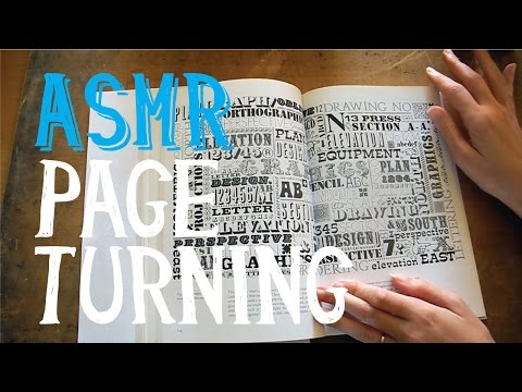 ASMR Page Turning Graphic Book with Whispering