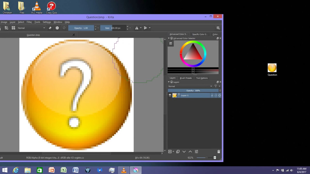 Have To Create an icon (ico) File using Krita