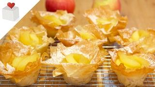 Tartaletas de pasta filo con Manzanas | Azúcar con Amor