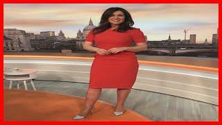 Lady in red! Susanna Reid shows off MILF status in figure-hugging dress