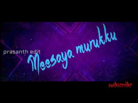 How To Make Meesaya Murukku Font