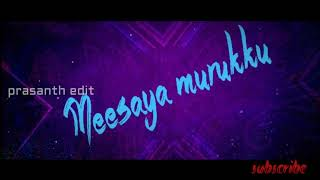 how to make meesaya murukku font