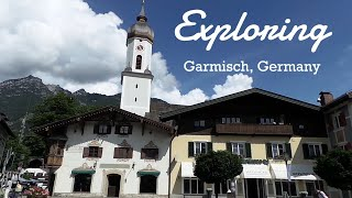 Lunch in Dachau and Exploring Garmisch, Germany