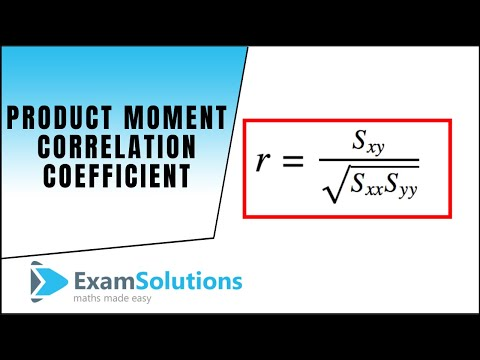 Pearsons Product Moment Correlation Coefficient : ExamSolutions