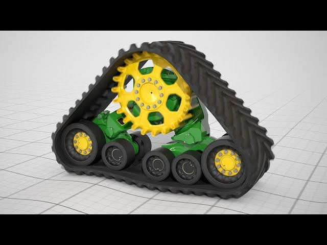 Bigger Footprint, and narrower width: John Deere Tracks