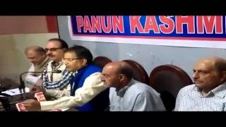 Panun Kashmir leaders addressing agenda of alliance of PDP and BJP