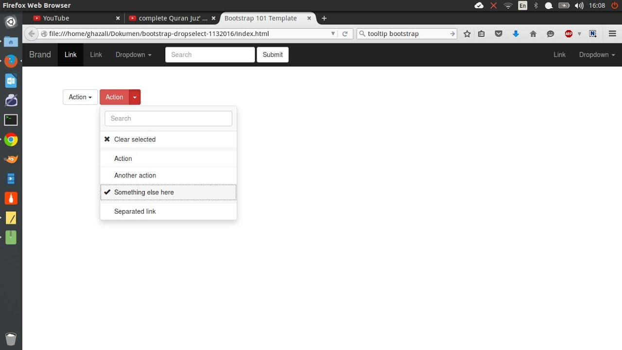 Dropdown Select And Search Using Jquery And Bootstrap Youtube