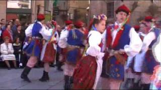 Polish traditional folk dance: Krakowiak - national dance