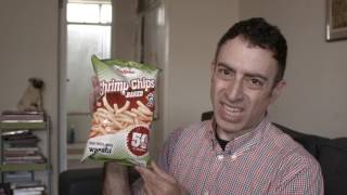 Snack time w Eric Jennifer: Shrimp Chips!