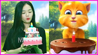 Imitate Ginger Blow out the Birthday Cake Candle - Talking Ginger 2 In Real Life screenshot 3