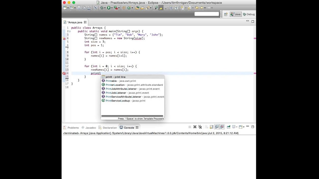 Remove an Element from an Ordered Array (Java)