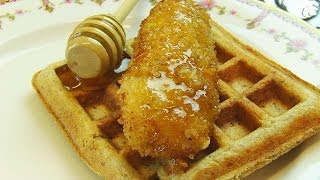 Betty's Panko-crusted Fried Chicken Strips Served With Waffles