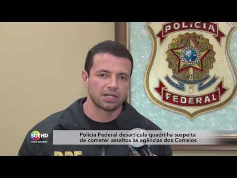 Polícia Federal desarticula quadrilha suspeita de cometer assaltos às agências dos Correios