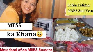 Vlog of Mess ka Khana at NMCH,Patna   Mess Food in Medical College's Hostel   Sobia Fatima, MBBS  