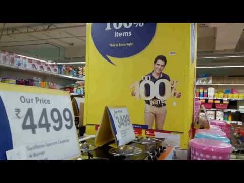 Reliance fresh/smart stores in india ad. with Rohit Mehta