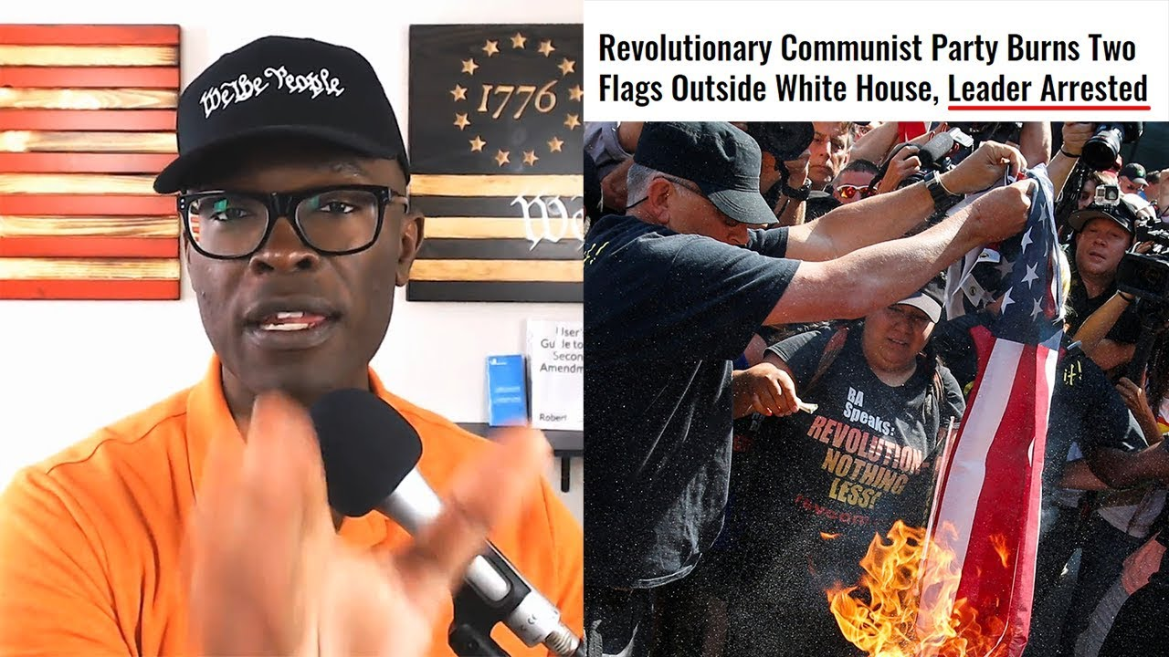 Anthony Brian Logan Commies Burn AMERICAN FLAG Outside Of White House!